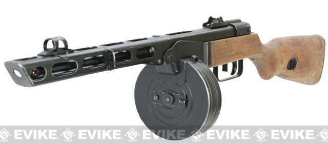 S&T PPSh-41 WWII Electric Blowback Airsoft AEG Submachine Gun w/ Drum Mag