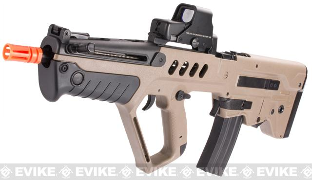 IWI Licensed TAVOR TAR-21 Airsoft AEG Rifle by Umarex w/ Metal Gearbox (Color: Dark Earth / Competition Series)