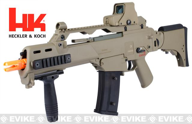 z H&K G36CV Carbine Airsoft Blowback AEG Rifle by ARES / Umarex - (Flat Dark Earth)