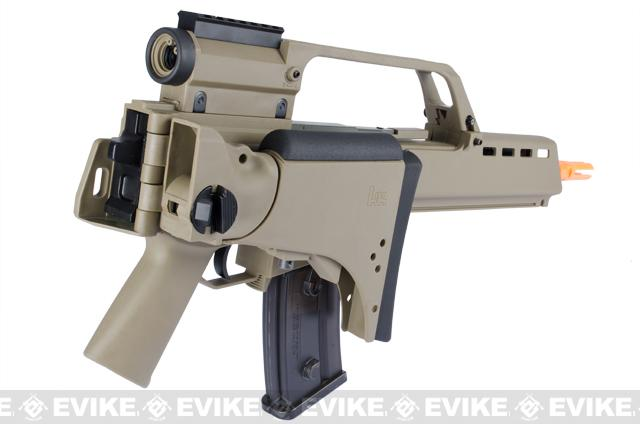 H&K G36KV Airsoft AEG EBB Rifle by Elite Force w/ Integrated Scope - Dark Earth