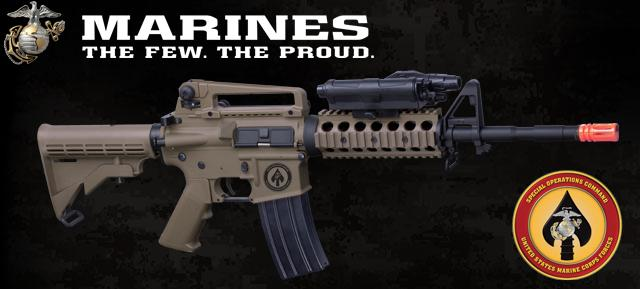 Bone Yard - USMC Licensed Limited Special Edition ER09 M4 MARSOC RIS Airsoft AEG Rifle (Store Display, Non-Working Or Refurbished Models)