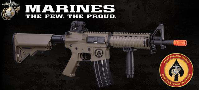 z USMC Licensed Special Limited Edition ER10 M4 MARSOC CQB Airsoft AEG Rifle