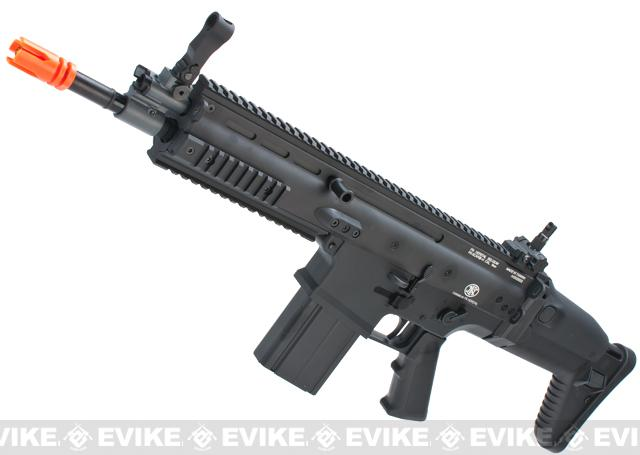 FN Herstal Full Metal SCAR Heavy Airsoft AEG Rifle by VFC (Model: CQC / Black)