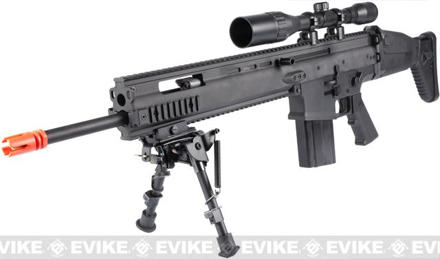 FN Herstal Full Metal SCAR MK17 SSR Full Metal Airsoft AEG Rifle by VFC - Black