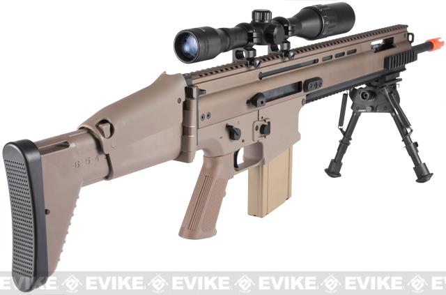 FN Herstal SCAR MK17 SSR Full Metal Airsoft AEG Rifle by VFC - Dark Earth