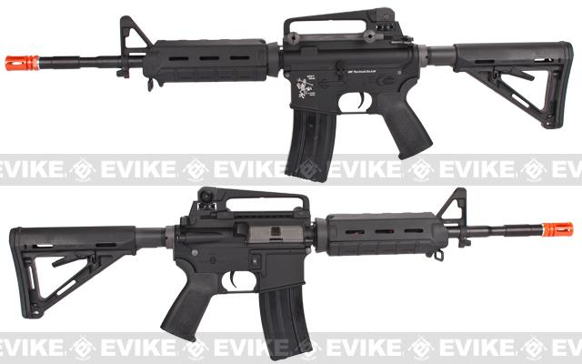 z Evike Custom WE-Tech Full Metal M4 MOE Carbine Airsoft AEG Rifle - Black