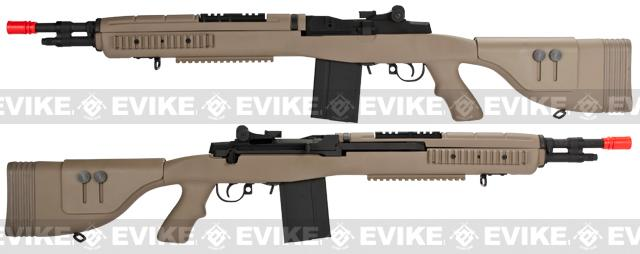 G&P M14 DMR Recon Airsoft AEG Sniper Rifle - Dark Earth
