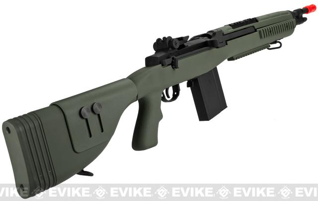 G&P M14 DMR Recon Airsoft AEG Sniper Rifle - Foliage Green (Package: Add Battery + Charger)