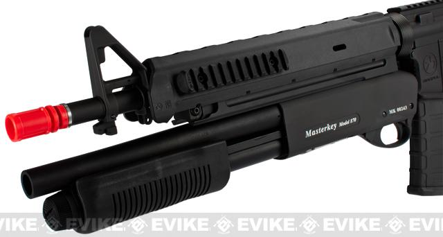 z G&P Magpul Battle Rifle Airsoft AEG w/ Masterkey Shotgun - Black
