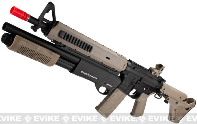 G&P PTS Magpul Battle Rifle Airsoft AEG w/ Masterkey Shotgun - Dark Earth