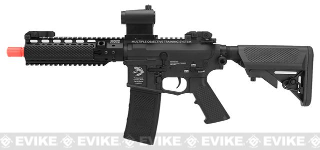 G&P MOTS High Speed 8 Keymod M4 Carbine Airsoft AEG Rifle - Black (Package: Add Battery + Charger)