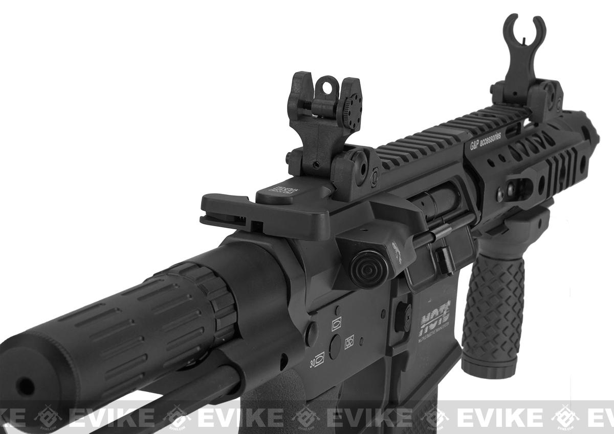 G&P MOTS M4 PDW Compact Airsoft AEG - Black (Package: Gun Only)