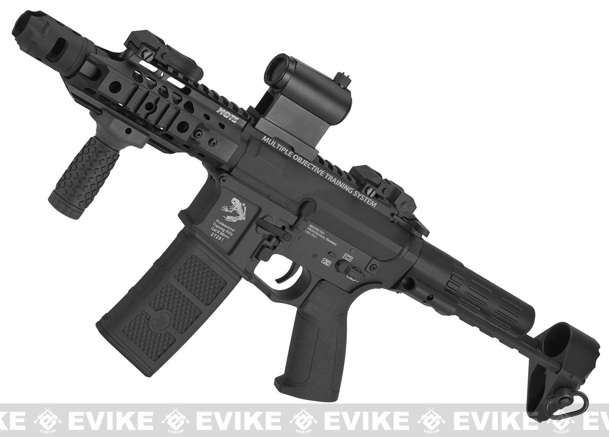 G&P MOTS M4 PDW Compact Airsoft AEG - Black (Package: Add Battery + Charger)
