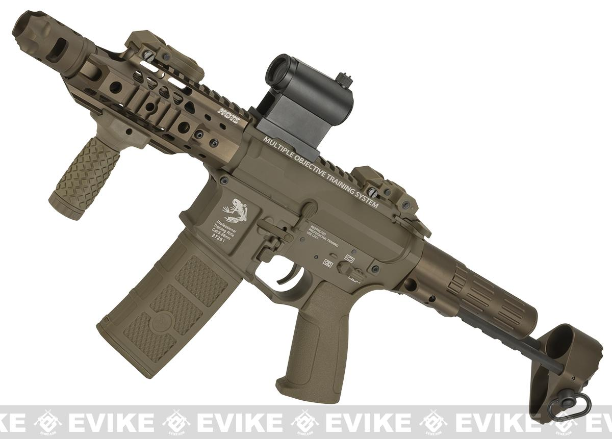 G&P MOTS M4 PDW Compact Airsoft AEG - Dark Earth (Package: Gun Only)