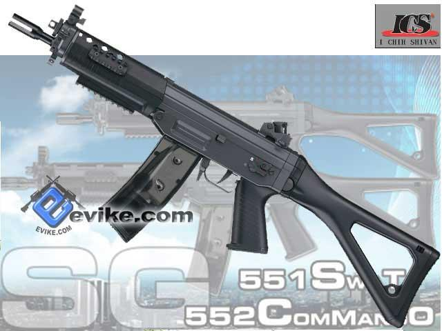 Bone Yard - ICS Licensed SIG 552 Commando Full Metal Airsoft AEG (Store Display, Non-Working Or Refurbished Models)