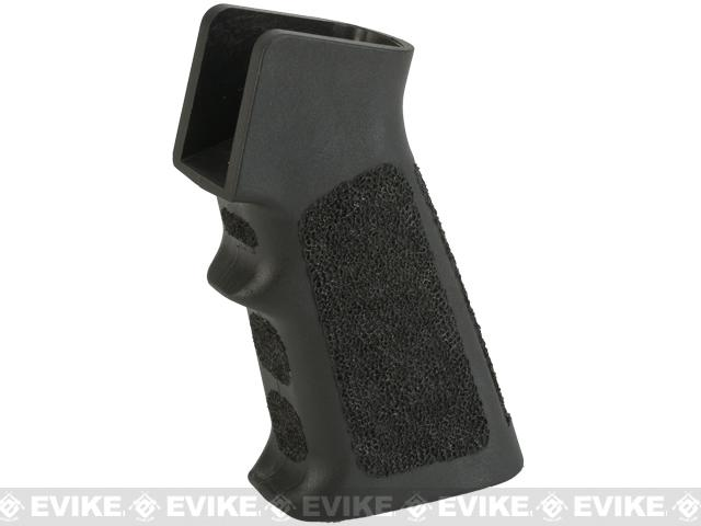 APS Custom Hand Stippled Motor Grip for M4/M16 Airsoft AEGs - Black