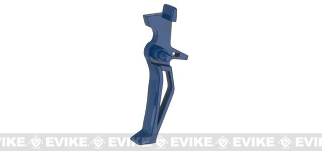 APS RAF Flat Front Trigger for M4/M16 Series Airsoft AEGs - Evike.com Blue