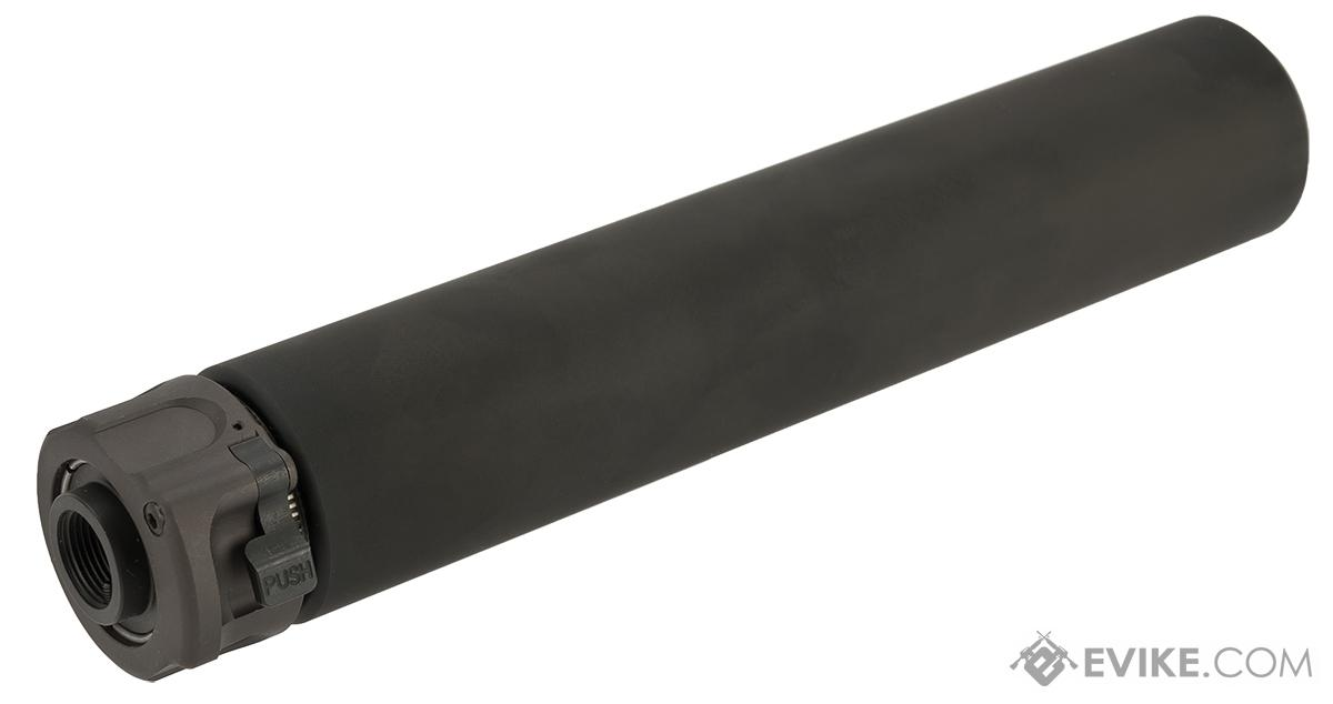 Angry Gun 8.5 SOCOM 762 Mock Suppressor with Flash Hider for Airsoft Rifles -Black (14mm Negative)