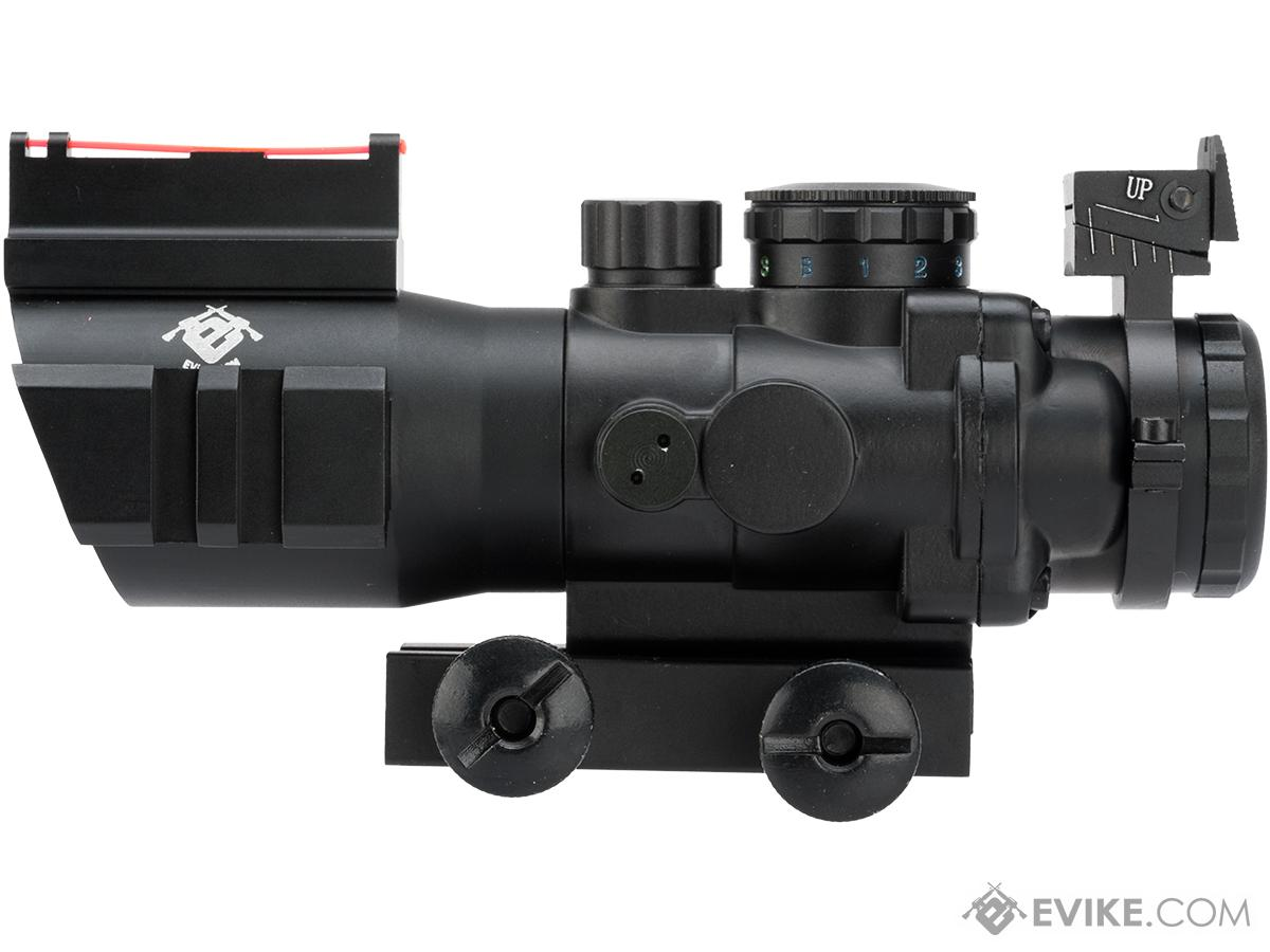 AIM Dual-Rail 4x35 Illuminated Compact Scope with Fiber Optics Sight / Rapid Ranging Reticle