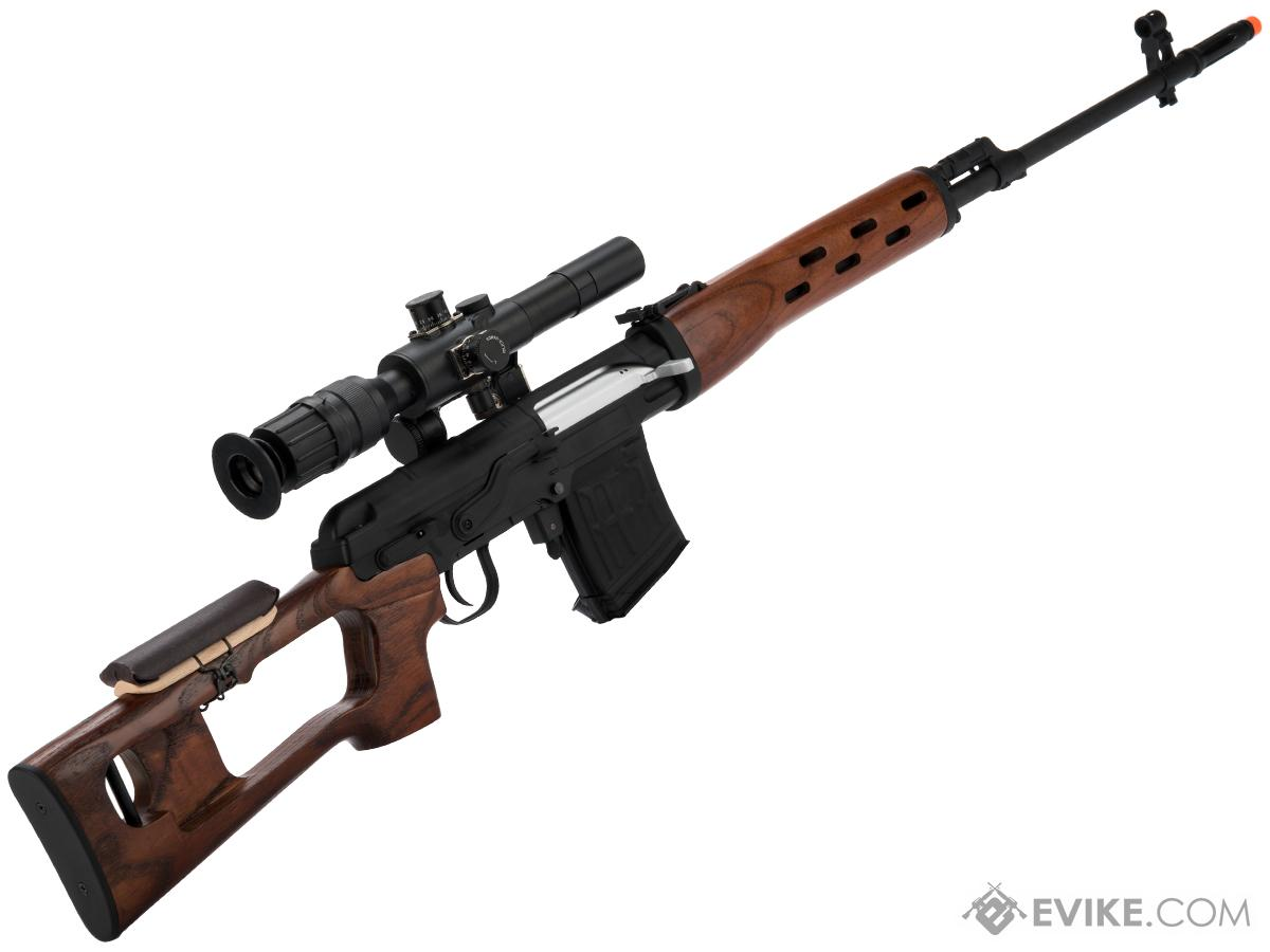 AIM Co2 High Power Gas Blowback AK SVD Airsoft GBB Sniper Rifle (Color: Real Wood Version)