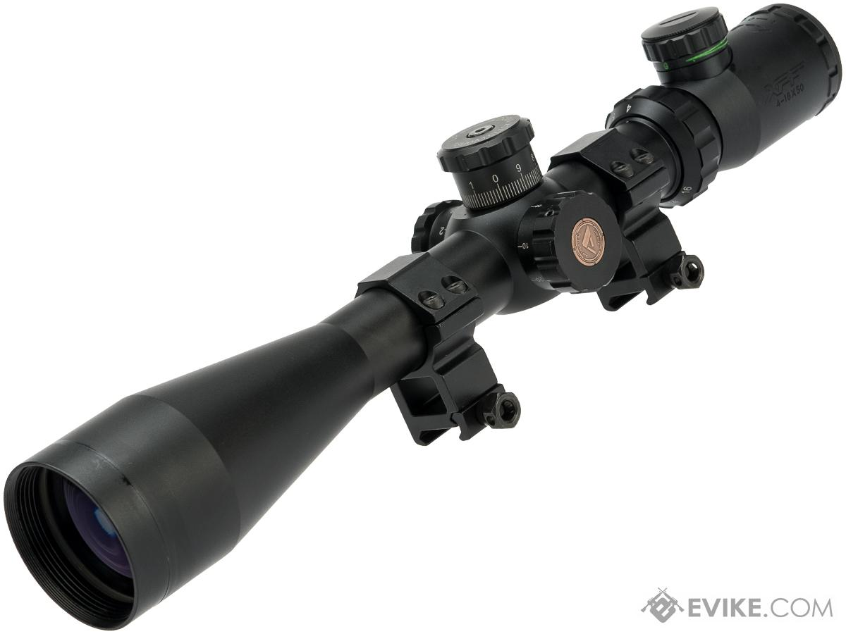 AIM Sports XPF Series 4-16x50mm Variable Zoom Rifle Optic with Illuminated Reticle