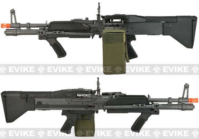 A&K Full Metal Mk43 Mod 0 / M60E4 Airsoft AEG Light Machine Gun