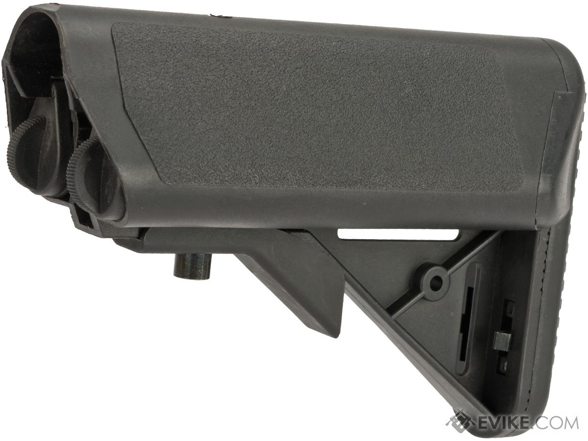 A&K PTW Type Crane Stock with Flocked Cheek Pads for PTW / STW M4 Series Airsoft AEG