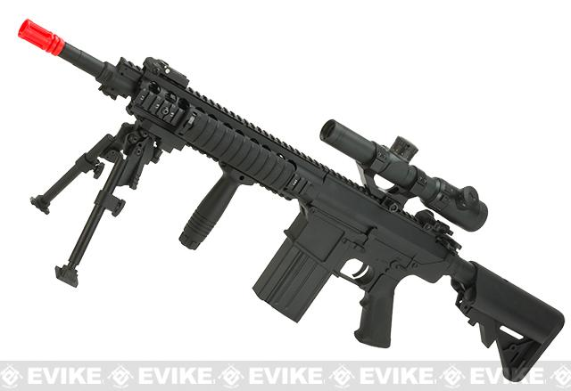 Pre-Order ETA July 2016 A&K Full Metal SR-25K Airsoft AEG Rifle w/ Crane Stock