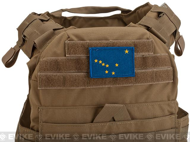 Evike.com Tactical Embroidered Alaska Flag The Last Frontier Patch