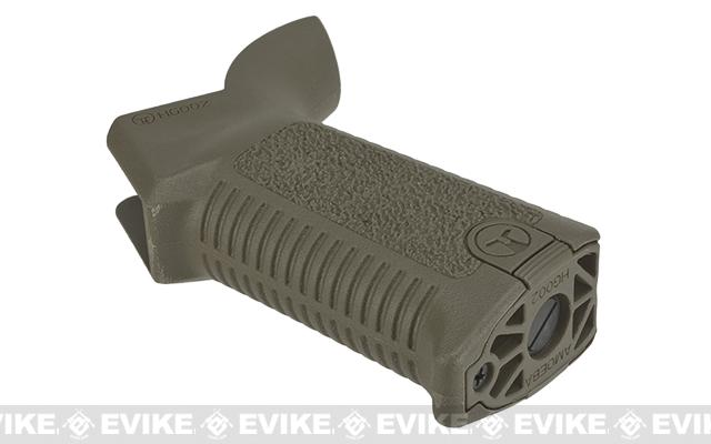 ARES Amoeba Airsoft Type-2 Ergonomic Motor Grip for M4 / M16 Airsoft AEG Rifles - Dark Earth