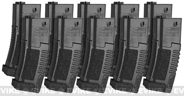 ARES Amoeba 140rd High Grade Mid-Cap Magazine for M4/M16 Series Airsoft AEG Rifles (Color: Black/Set of 10)