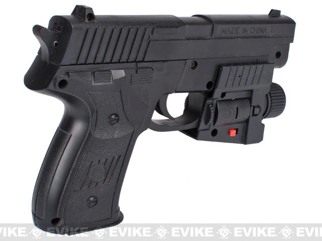 UKArms 216AF Airsoft Spring Pistol with Laser and Flashlight