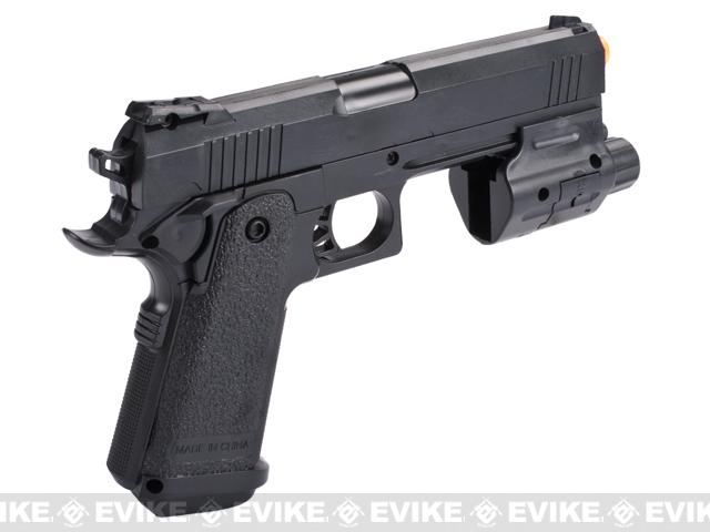 UKArms 217AF Airsoft Spring Pistol with Laser and Flashlight