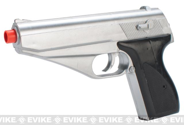 UKArms Lancer Tactical P139S Airsoft Spring Powered Pistol - Silver