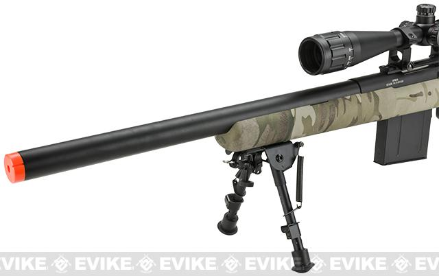 APS M50 Shell Ejecting Co2 Powered Airsoft Gas Sniper Rifle 500~590 FPS (Model: Multicam)
