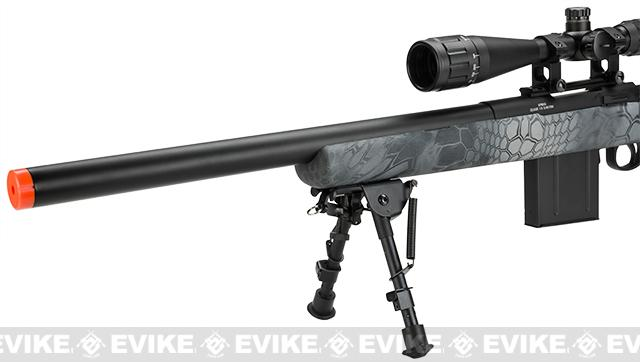 APS M50 Shell Ejecting Co2 Powered Airsoft Gas Sniper Rifle 500~590 FPS (Model: Kryptek Typhon)