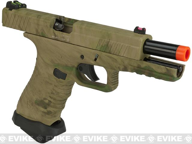 APS ACP Full Metal CO2 Powered Airsoft GBB Gas Blowback Pistol - A-TACS Foliage