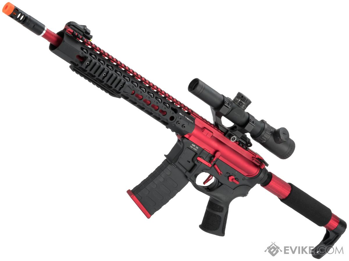 APS Limited Edition CNC Machined Red Dragon Custom AEG Rifle w/ Silver Edge Gearbox - Red/Black
