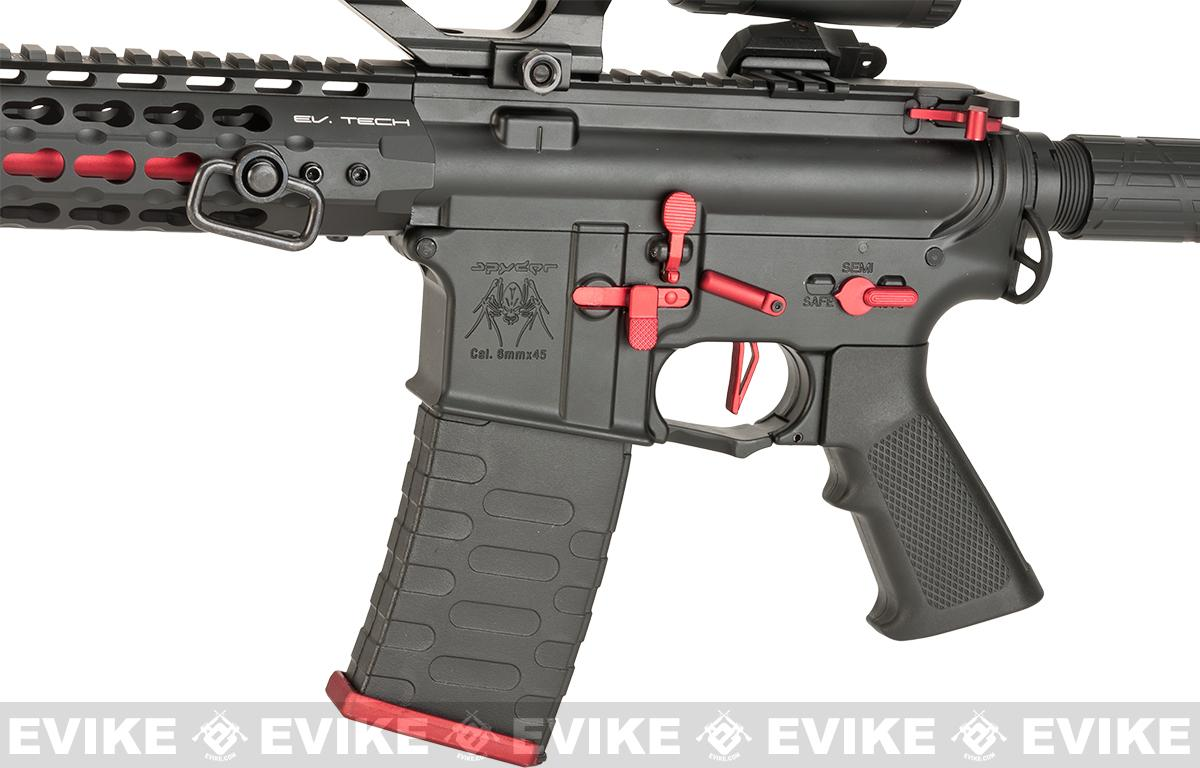 APS ASR115X Three Gun Custom AEG Rifle w/ Silver Edge Gearbox - Red/Black