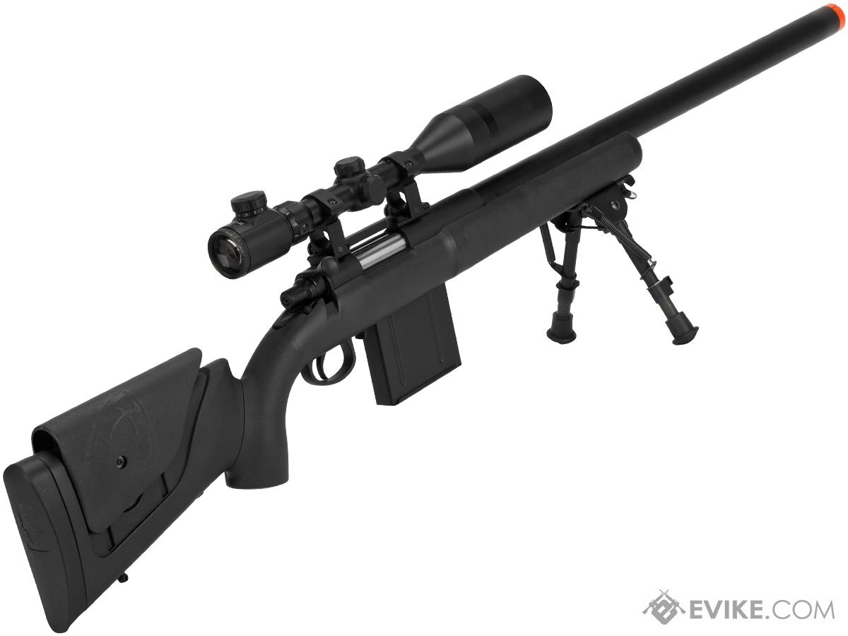 APS M40A3 Bolt Action Airsoft Sniper Rifle (Color: Black/ Rifle + 3-9X40 Scope)