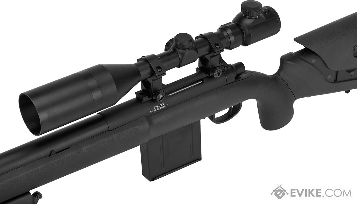 APS M40A3 Bolt Action Airsoft Sniper Rifle (Color: Black / Rifle Only)