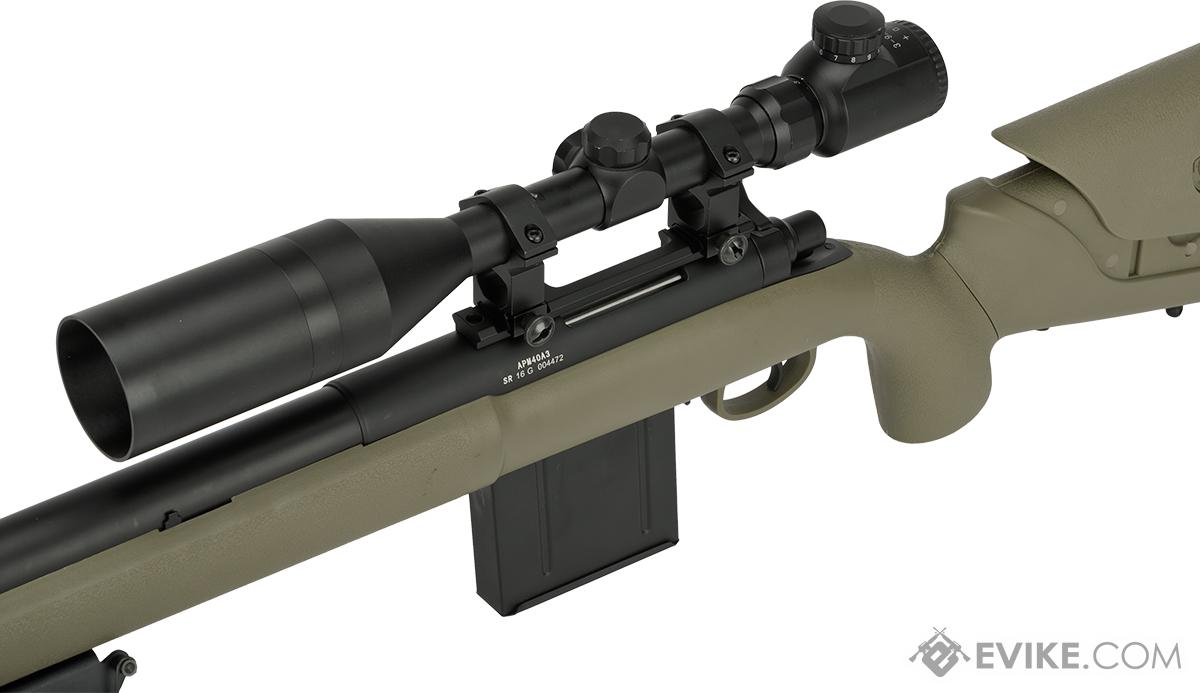 APS M40A3 Bolt Action Airsoft Sniper Rifle (Color: Dark Earth / Rifle + 3-9X40 Scope)