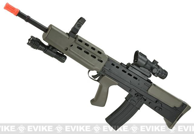 Full Size Bullpup L85 A2 British Dragon Carbine Airsoft Rifle with Reflex Sight and Flashlight