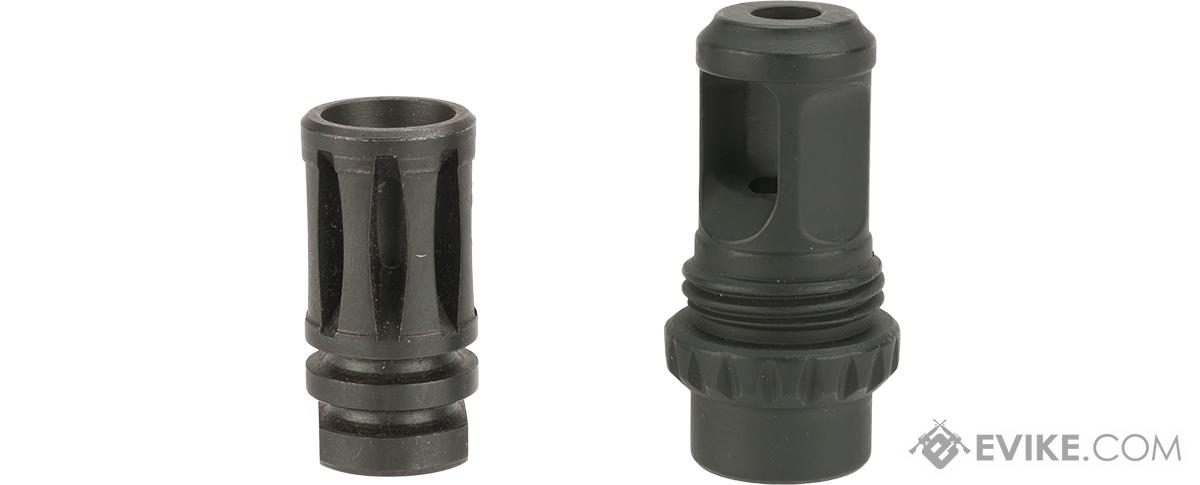 EMG 14mm Positive Metal Flash Hider for M4 Airsoft AEGs - Version 1