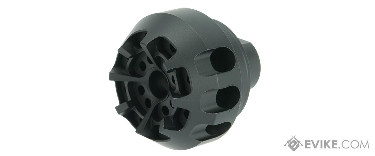ARES AM-016 Metal Muzzle Break for Airsoft AEG Rifles - 14mm Positive