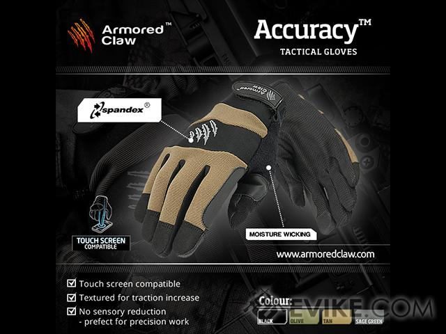 Armored Claw Accuracy Tactical Glove - OD Green (Size: X-Large)