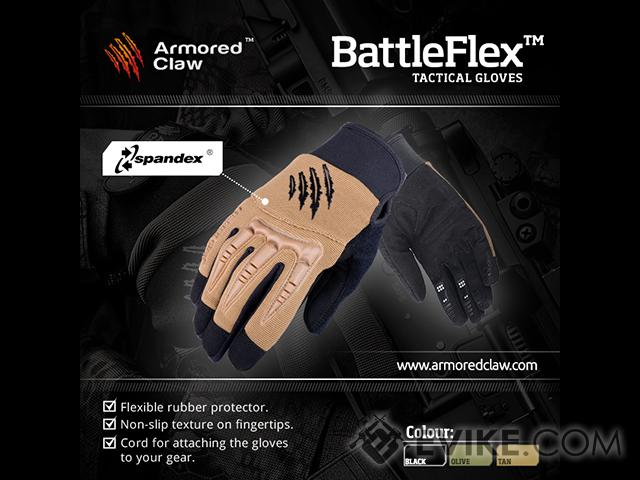 Armored Claw BattleFlex Tactical Glove - OD Green (Size: Large)