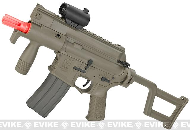 z ARES Amoeba CCC M4 Airsoft AEG Machine Pistol - Dark Earth