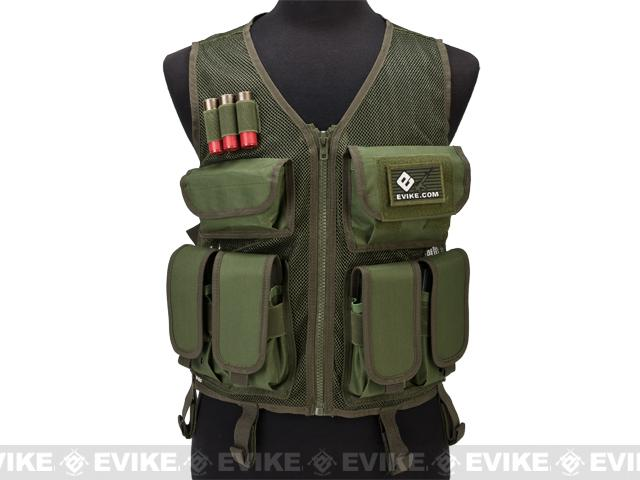 GxG High Speed Airsoft Vest w/ Integrated Pouches - OD
