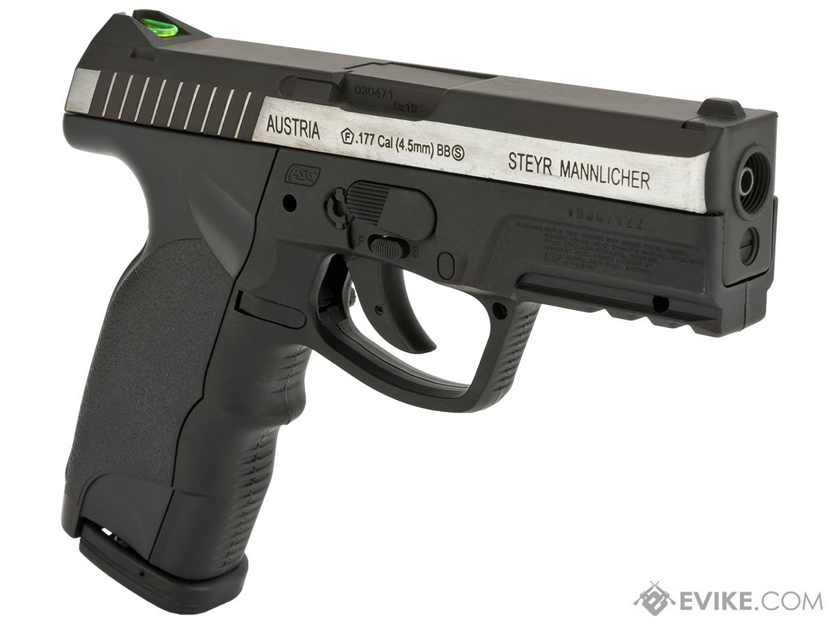 ASG Steyr M9A1 Non-Blowback Co2 4.5mm (.177 cal NOT AIRSOFT) BB Pistol - Two Tone